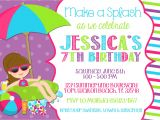 Swimming Birthday Party Invitations Templates Free Pool Party Invitation Wording Template