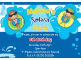 Swimming Birthday Party Invitations Templates Free Swim Party Invitations