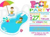 Swimming Pool Party Invitation Ideas Kids Pool Party Invitation Pool Party Pinterest
