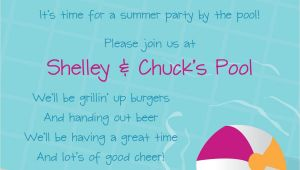 Swimming Pool Party Invitation Ideas Pool Party Free Line Invitations