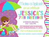Swimming Pool Party Invitation Ideas Pool Party Invitation Wording Template Markit2d