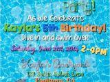 Swimming Pool Party Invitation Ideas Pool Party Invite Pool Party Invitation Summertime