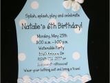 Swimsuit Party Invitations 10 Swimsuit Bathing Suit Birthday Invitations for Pool Party