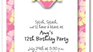 Swimsuit Party Invitations Pink Bikini Invitations Beach Invitations Pool Invitations