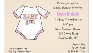T Shirt Baby Shower Invitations Tiny T Shirt Pink Baby Shower Invitation