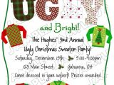 Tacky Christmas Sweater Party Invitation Wording Ugly Christmas Sweater Holiday Party Invite