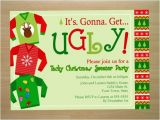 Tacky Christmas Sweater Party Invitation Wording Ugly Christmas Sweater Party Invitation Digital File