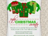 Tacky Christmas Sweater Party Invitation Wording Ugly Christmas Sweater Party Invitation Ugly by