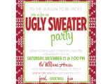 Tacky Christmas Sweater Party Invitation Wording Ugly Christmas Sweater Party Invitation Wording
