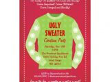 "Tacky Christmas Sweater Party Invitation Wording Ugly Sweater Holiday Party Invitation 5"" X 7"" Invitation"