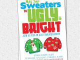 Tacky Christmas Sweater Party Invitation Wording Ugly Sweater Party Invitation Tacky Holiday Christmas