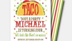 Taco Bout A Party Invitation Taco Birthday Invitation Fiesta Birthday Invitation Fiesta