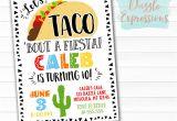 Taco Party Invitation Template Free Printable Taco Party Birthday Invitation Fiesta Ticket