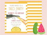 Taco Party Invitation Wording Inspired Dragons Love Tacos Invitation by Picklesandwatermelon