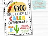 Taco Party Invitation Wording Printable Taco Party Birthday Invitation Any event
