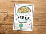Taco Party Invitation Wording Taco Fiesta Birthday Party Invitation Let 39 S by