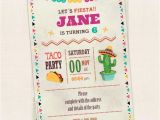 Taco Party Invitation Wording Taco Party Invitation Birthday Invitation Instant Download
