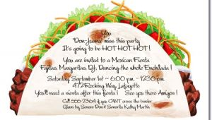 Taco Party Invitation Wording Taco Party Invitations Mexican Food Cinco De Mayo Invite