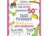 Taco Party Invitation Wording Taco Twosday Fiesta Birthday Party Invitations Paperstyle