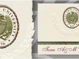 Tamu Graduation Invitations Texas A M University Graduation Announcements Texas A M