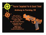 Target Birthday Party Invitations Target Laser Tag Birthday Party Invitation Zazzle