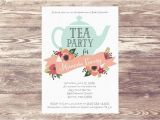 Tea Party Baby Shower Invitation Templates Printed Baby Shower Tea Party Invitation Custom