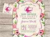 Tea Party Baby Shower Invitation Templates Tea Party Baby Shower Invitations Party Xyz