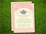 Tea Party Baby Shower Invitation Templates Template Tea Party Baby Shower Invitations