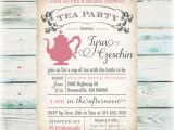 Tea Party Bridal Shower Invites Tea Party Bridal Shower Invitation Diy Digital File