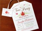 Tea Party Bridal Shower Invites Tea Party Bridal Shower Invitations