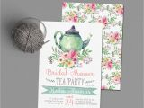 Tea Party Bridal Shower Invites Tea Party Bridal Shower Invitations Wedding Shower Invite