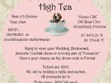 Tea Party Fundraiser Invitation formal High Tea Fundraiser Beagles Co Za