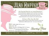 Tea Party Fundraiser Invitation Mad Hatter Tea Party Invitation Charity Fundraiser Mad