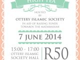 Tea Party Fundraiser Invitation Print Work High Tea Invitation Sunshinehello