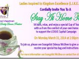 Tea Party Fundraiser Invitation Stay at Home Tea Flyer Bing Images