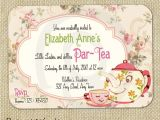 Tea Party Invitation Ideas Cute Vintage Tea Party Invitation Digital Template