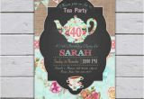 Tea Party Invitation Ideas for Adults Adult Tea Party Invitation High Tea Party Invitation 30th