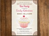Tea Party Invitation Ideas for Adults Birthday Tea Party Invitation Girl Adult Birthday by Ameliy