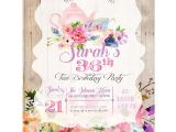 Tea Party Invitation Ideas for Adults Tea Party Birthday Invitation Adult Birthday Invitation Tea