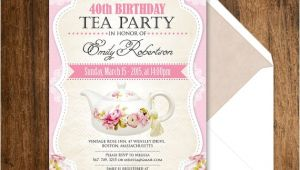 Tea Party Invitation Ideas for Adults Tea Party Birthday Invitation Printable Adult Girl Invite