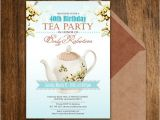 Tea Party Invitation Ideas for Adults Tea Party Birthday Invitations Printable Adult by Ameliy