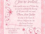 Tea Party Invitation Ideas for Adults Winter Chic Tea Party Invitation Snowflakes soft Pink