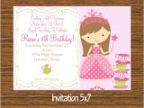 Tea Party Invitation Ideas Princess Tea Party Invitations