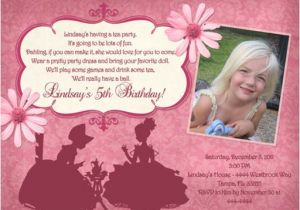 Tea Party Invitation Ideas Tea Party Birthday Invitations Ideas – Bagvania Free