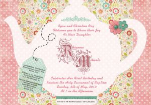 Tea Party Invitation Ideas Tea Party Invitation Ideas