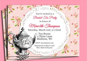 Tea Party Invitation Ideas Tea Party Invitations