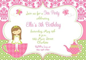 Tea Party Invitation Ideas Tea Party Invites