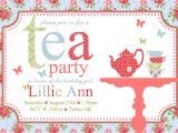 Tea Party Invitation Template Free Free afternoon Tea Invitation Template