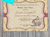 Tea Party Invitation Wording for Adults Vintage Bridal Shower Invitation Tea Party Invitation