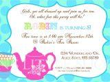 Tea Party Invite Wording Tea Party Invitation Wording Template Best Template